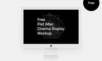 febcc538950ac8410852ceb5bdfbbc13 400x240 - Free Flat iMac Mockup (Cinema Display)