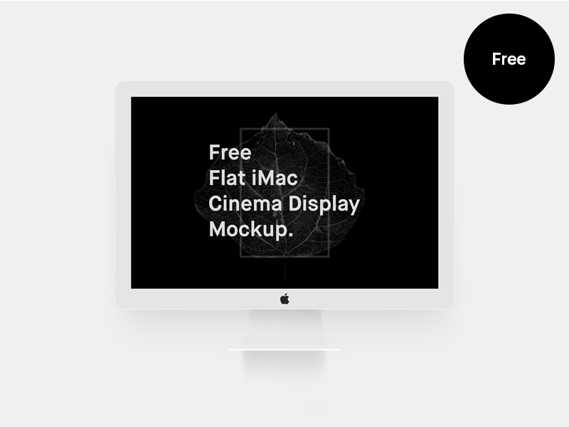 febcc538950ac8410852ceb5bdfbbc13 - Free Flat iMac Mockup (Cinema Display)