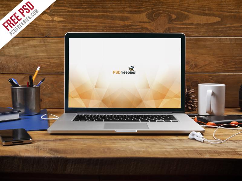 ff02ece65f3345775b8eb6e72204070e - Free PSD : Macbook Pro Front View Mockup Free PSD