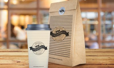 ff2b7e4e37b4f0c83b7464a91448f4e9 400x240 - Free Coffee Cup and Paper Bag Mockup PSD