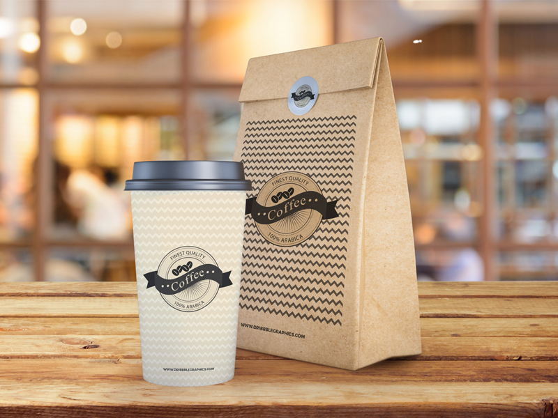 ff2b7e4e37b4f0c83b7464a91448f4e9 - Free Coffee Cup and Paper Bag Mockup PSD