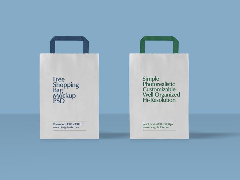 ff70c4e396f2d836533df0903209312a - Free Paper Shopping Bag Mockup PSD